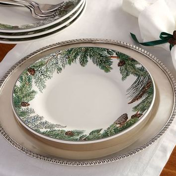EVERGREEN WREATH DINNER PLATE, SET OF 4
