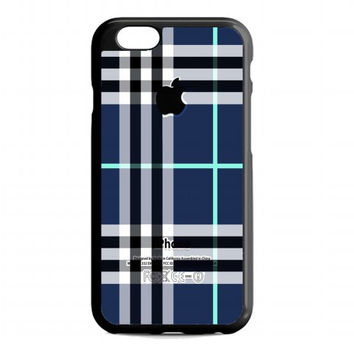 Blue Burberry, Patterns Apple For iPhone 6 case