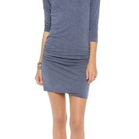 SUNDRY 3/4 Sleeve Ruched Dress | SHOPBOP | Use Code: INTHEFAMILY25 for 25% Off