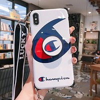 Champion Newest Popular Mobile Phone Cover Case For iphone 6 6s 6plus 6s-plus 7 7plus 8 8plus X XSMax XR White