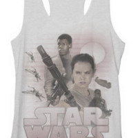 Star Wars The Force Awakens TFA Rey Finn Tank Top Juniors T-Shirt