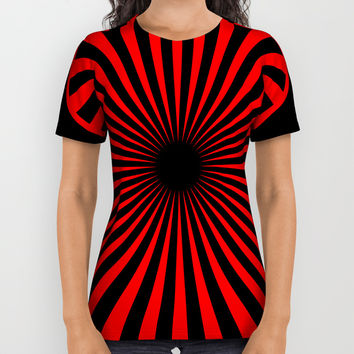 black and red All Over Print Shirt by netzauge