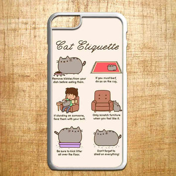 Pusheen cat cat etiquette for iphone 4/4s/5/5s/5c/6/6+, Samsung S3/S4/S5/S6, iPad 2/3/4/Air/Mini, iPod 4/5, Samsung Note 3/4, HTC One, Nexus Case*PS*