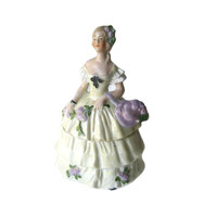 German Dresser Doll Powder Box Marked LBDC - Bridesmaid Gift - Gift Box - Porcelain Box - Vanity Table Box