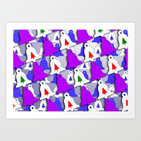 Christmas bells Art Print by LoRo  Art & Pictures