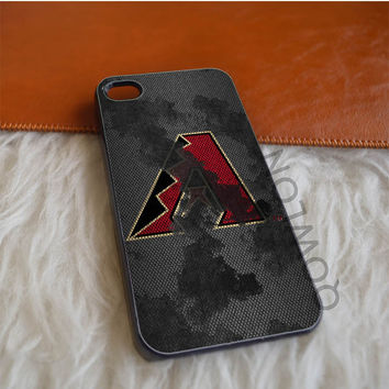 Arizona Diamondbacks Grunged Metal iPhone 4 | 4S Case