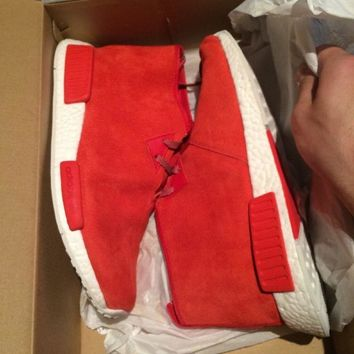 Adidas NMD Chukka C1 Red Suede Size US 10.5 New Condition With Receipt