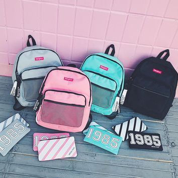 Menghuo Preppy Style Leisure Girl School Bags for Teenagers Backpack Set Women Travel Bags 3 Pcs/Set Rucksack Mochila Knapsack