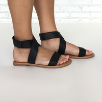 Crossroads Sandals in Black