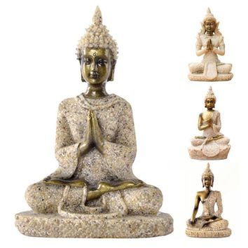 Thailand Buddha statue, Southeast Asian style, Zen gift, Ornament, buddha figrue, figurine, arts and crafts lucky Home decors 2
