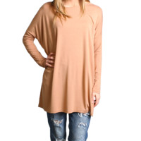 Iced Coffee Piko Long Sleeve Tunic