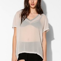Lacausa Dad Chiffon V-Neck Tee - Urban Outfitters