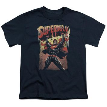 Superman - Lift Up Short Sleeve Youth 18/1