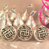 Graduation Party Supplies Zebra Decorations Stickers Class of 2013