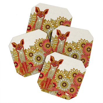 Sharon Turner Garden Fox Coaster Set