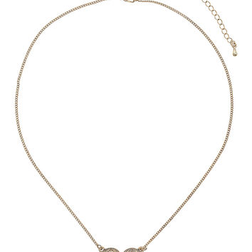 Double Engraved Coin Necklace - Topshop