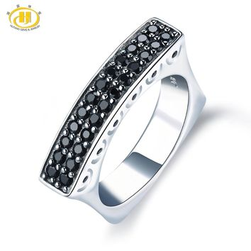Hutang Spinel Engagement Ring Natural Gemstone Solid 925 Sterling Silver Unique Fine Fashion Stone Jewelry For Female Gift New