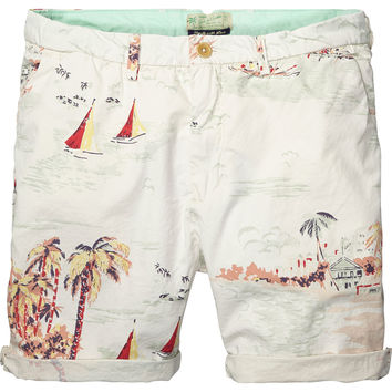 Bright coloured poplin chino shorts - Scotch & Soda