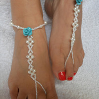 Sexy Shiny New Arrival Stylish Ladies Gift Cute Jewelry Accessory Summer Pearls Stretch Anklet [7241003463]
