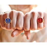 Captain's Log Anchor Stretch Rings