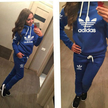 Adidas Cute Print Long Sleeve Jumpsuit Blue