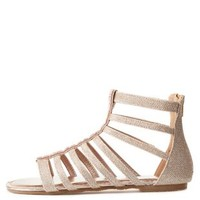 Bamboo Jeweled Glitter Gladiator Sandals