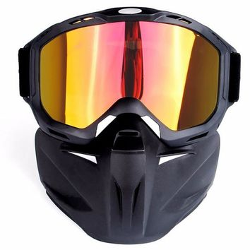 Men Women Ski Snowboard Snowmobile Goggles Mask Snow Winter Skiing Ski Glasses Motorcycle Sunglasses Full Face Skiing Masks
