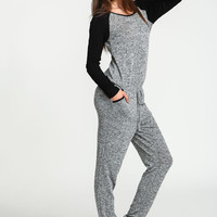 Baseball Two Tone Knit Jumpsuit