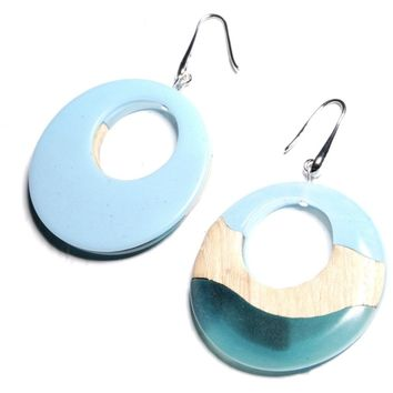 Ocean moonstone earrings