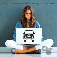 1D Campervan One Direction Laptop Decal by stickypic