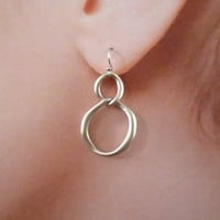 Infinity, Circle, Connerctors, Drop, Dangle, Gold, Silver, Earrings