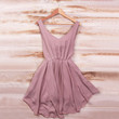 Smart Mauve Dress- back in stock