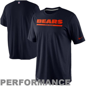 Nike Chicago Bears Dri-FIT Legend Elite Font Sideline Performance T-Shirt - Navy Blue