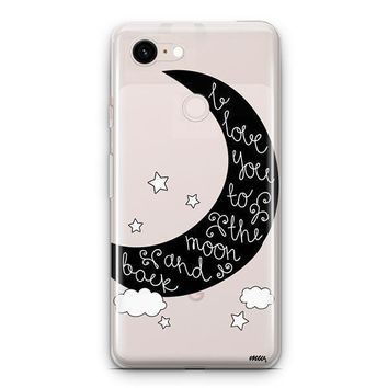 To The Moon and Back Google Pixel 3 Clear Case