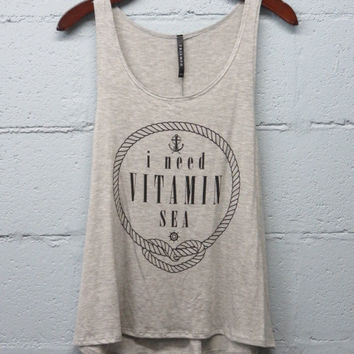 I Need Vitamin Sea Heather Grey Tank
