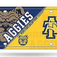 ICIKIHN North Carolina A&T State Aggies NSD Metal Aluminum License Plate Tag University