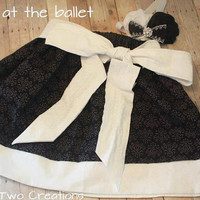 Black and White Girl's Sash Skirt Baby, Toddler, Girl Black and white