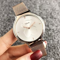 Tous Fashion New Dial Letter Bear Women Men Wristwatch Watch