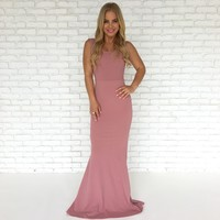 Perfect Duet Bow Back Maxi Dress In Pink