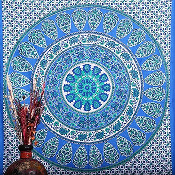 Hippie Wall Hanging Tapestries , Indian Mandala Tapestry Throw Bedspread , Dorm Tapestry , Decorative Wall Hanging , Picnic Beach Sheet