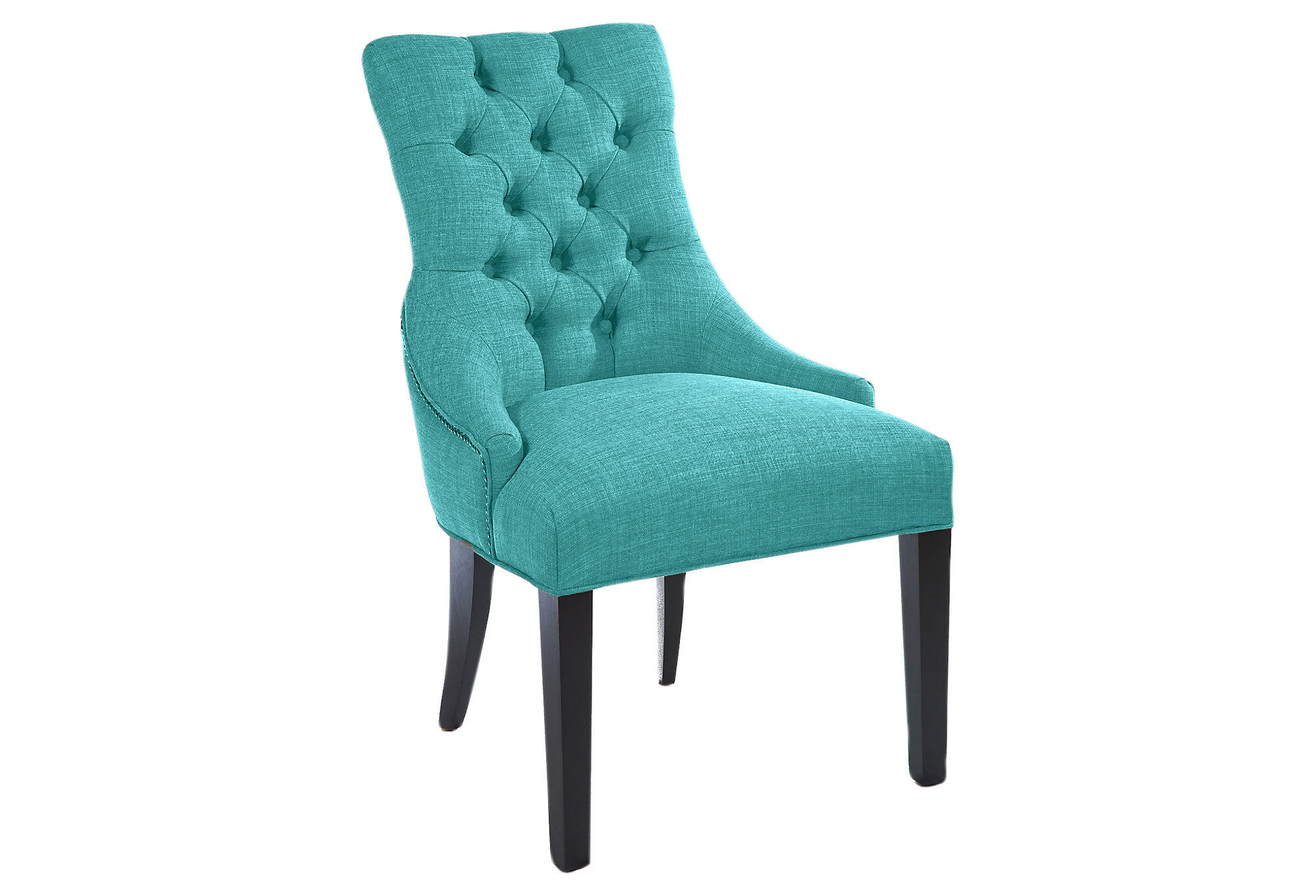 Briana Tufted Chair Teal Accent From One Kings Lane