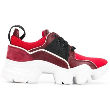 Red and White Thick Sole Sneakers by Givenchy