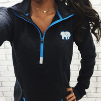 Electric Onyx Quarter Zip