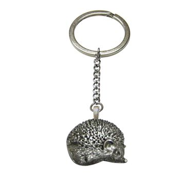 Textured Hedgehog Keychain