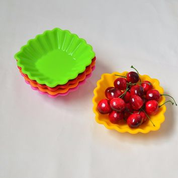12CM Shell type Silicone Soy Sauce Dish,Japanese Sushi Dishes Snacks quincunx  Sauce Pickled cabbage