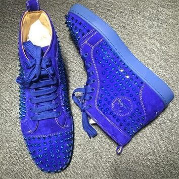 Cl Christian Louboutin Louis Spikes Style #1849 Sneakers Fashion Shoes
