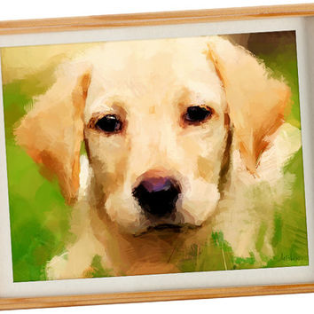 Custom Dog Painting - Custom Pet Portrait from photo, Personalized paintings of dogs, Puppy paiting,