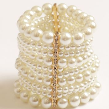 Pearl Power Cuff Bracelet