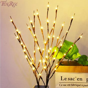 FENGRISE Willow Branch Light Floral Lights Christmas Decorations for Home Christmas Tree Light Navidad Xmas New Year 2019