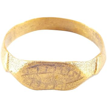 EARLY MEDIEVAL EUROPEAN RING, 11th CENTURY